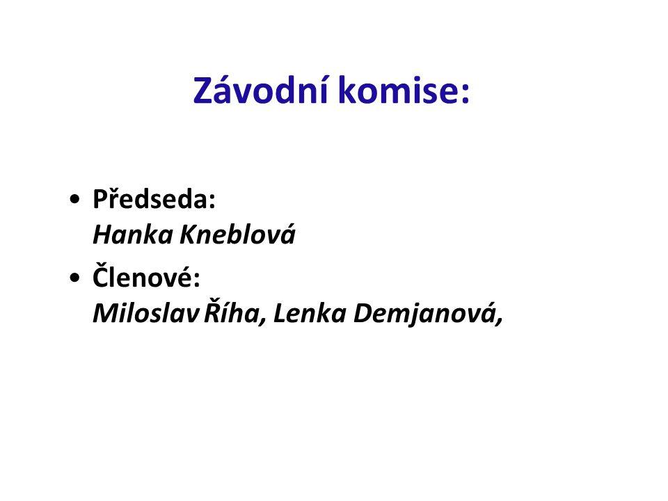 Závodní komise: Předseda: Hanka Kneblová
