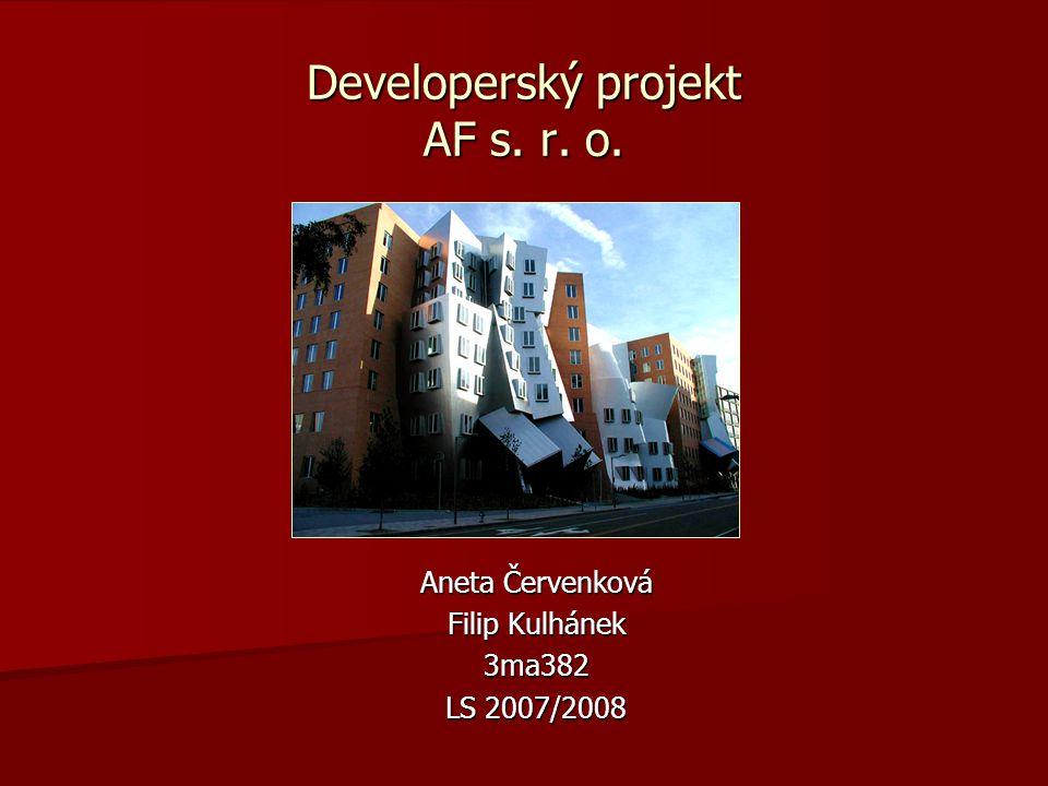 Developerský projekt AF s. r. o.