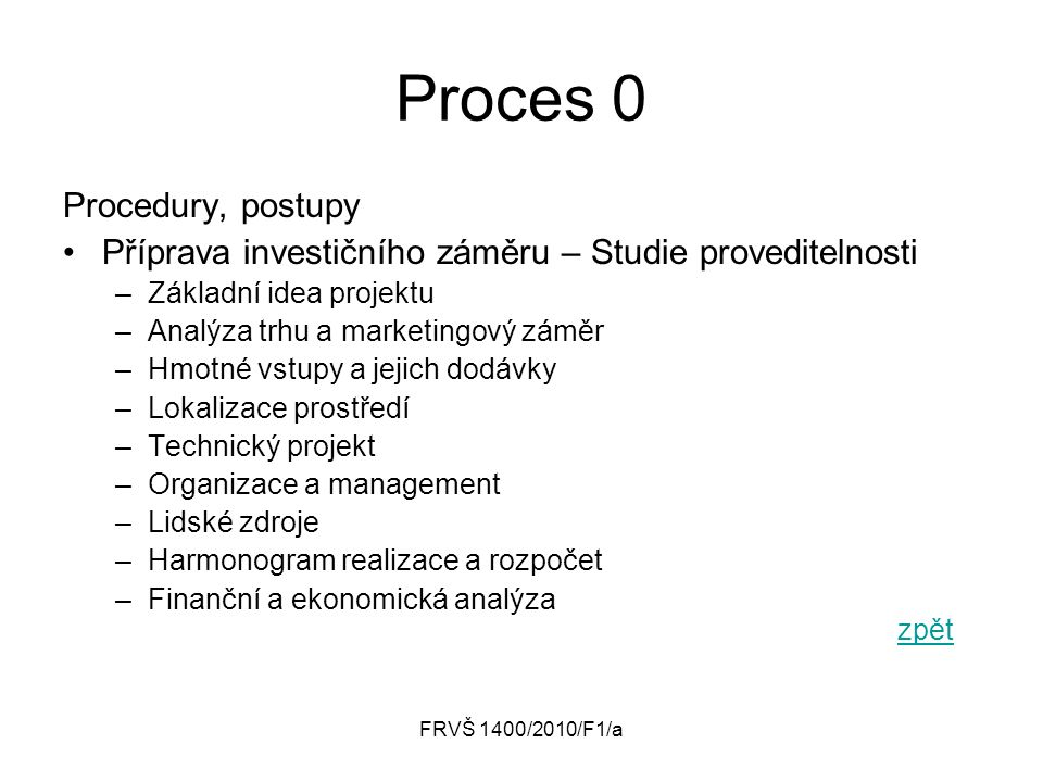 Proces 0 Procedury, postupy