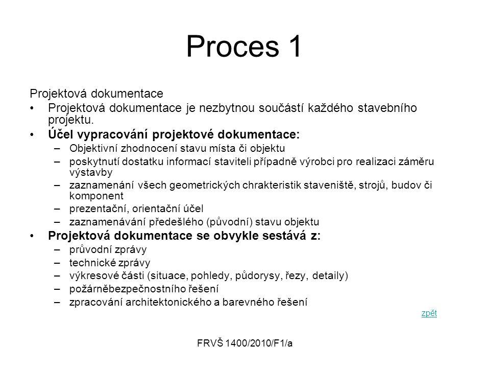 Proces 1 Projektová dokumentace