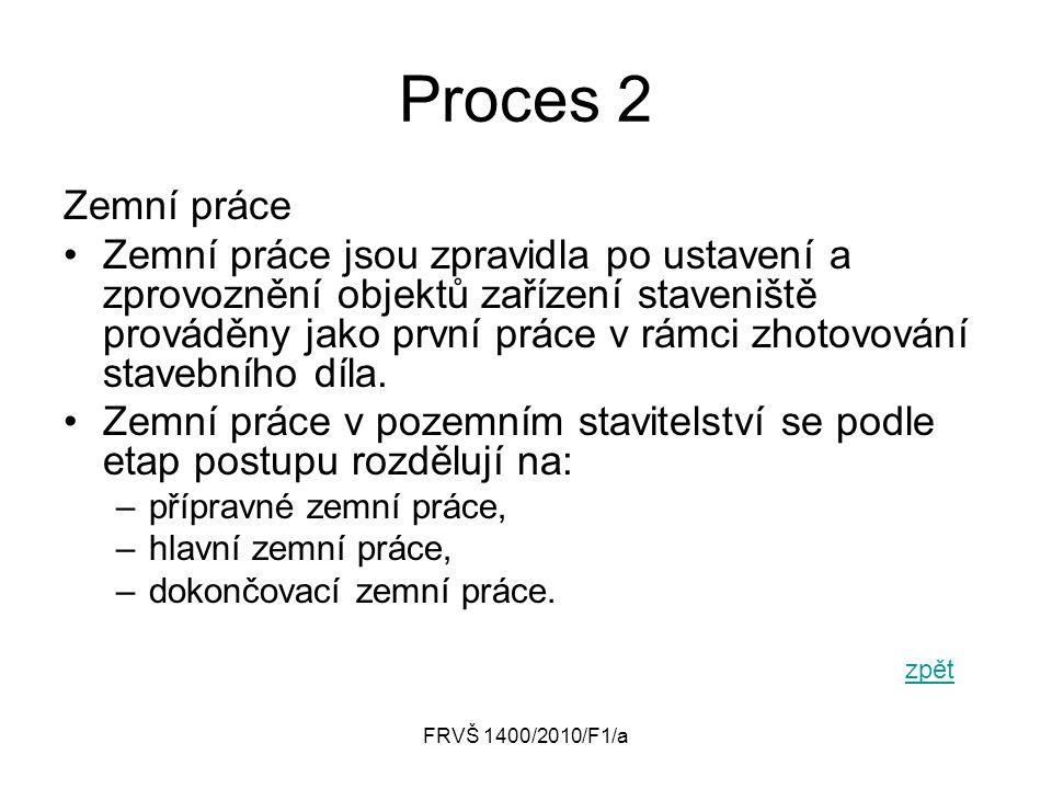 Proces 2 Zemní práce.