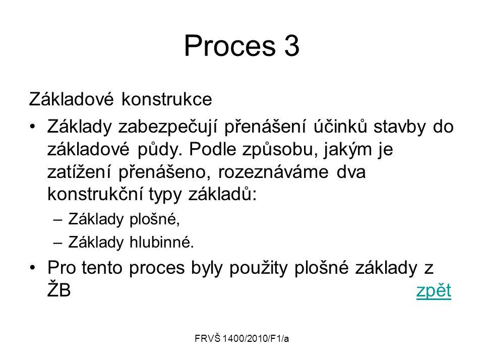 Proces 3 Základové konstrukce