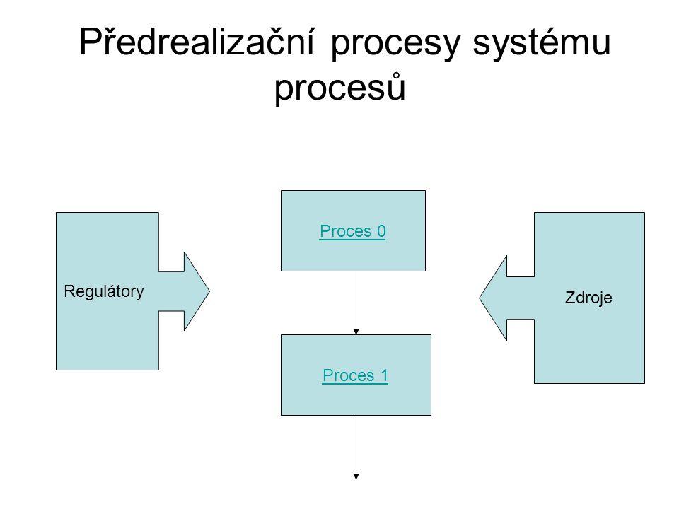 Předrealizační procesy systému procesů