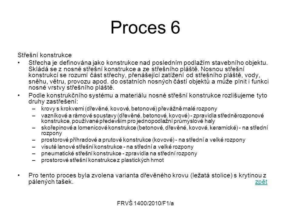 Proces 6 Střešní konstrukce