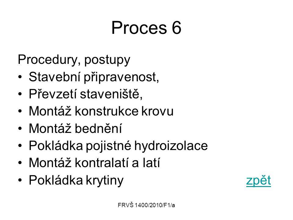 Proces 6 Procedury, postupy Stavební připravenost,