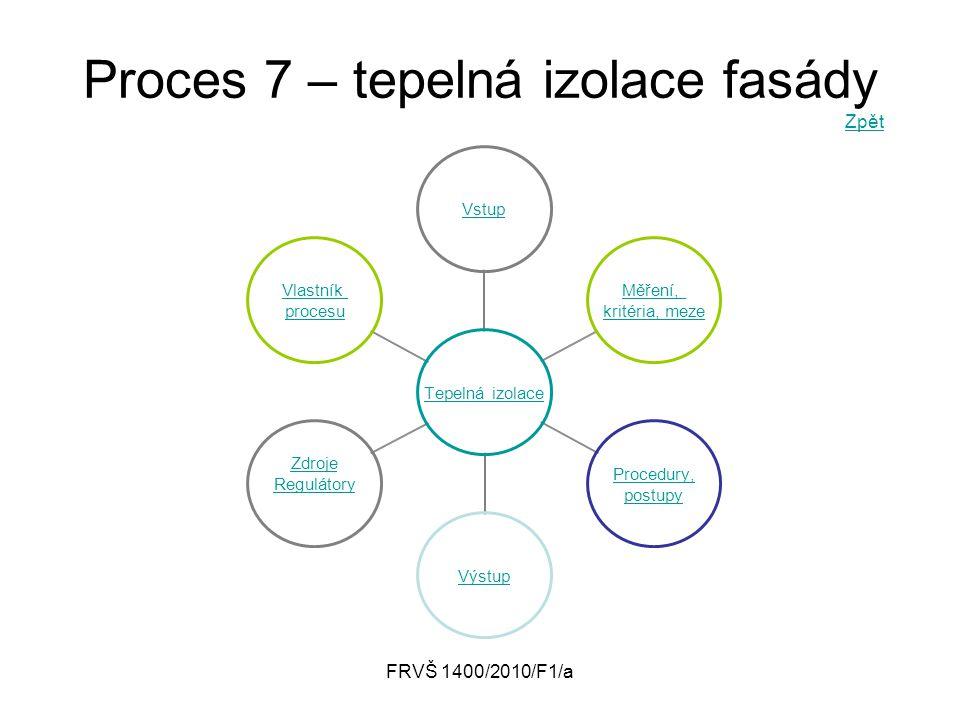 Proces 7 – tepelná izolace fasády Zpět