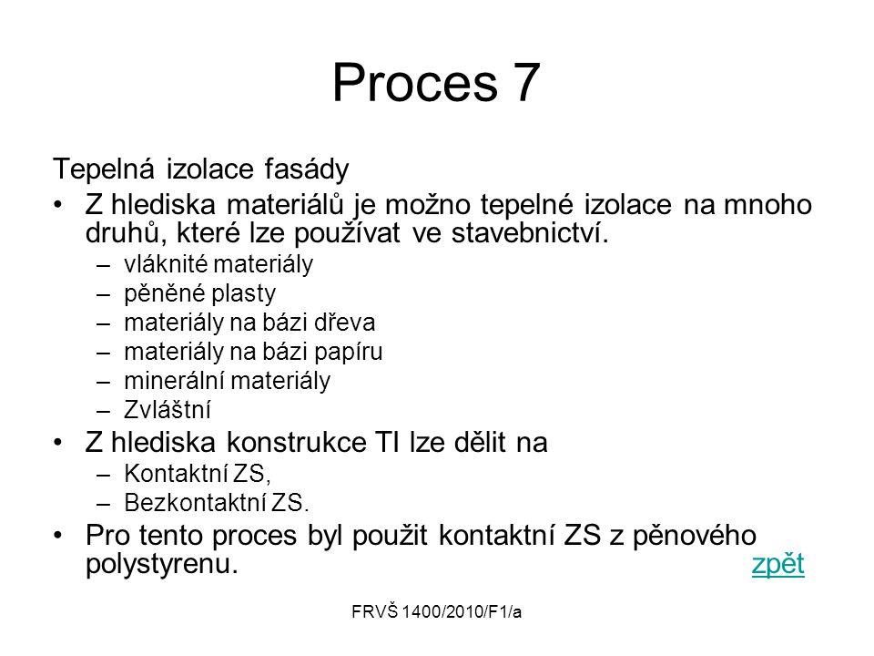 Proces 7 Tepelná izolace fasády