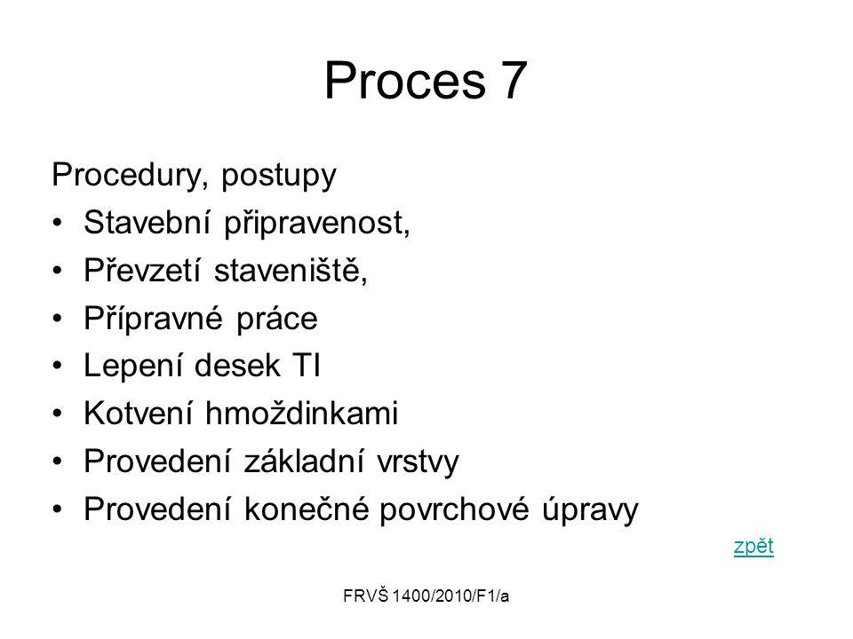 Proces 7 Procedury, postupy Stavební připravenost,