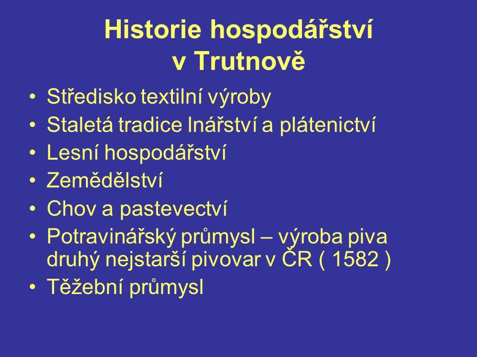 Historie hospodářství v Trutnově