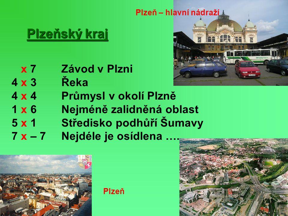 Plzeňský kraj x 7 Závod v Plzni 4 x 3 Řeka 4 x 4 Průmysl v okolí Plzně