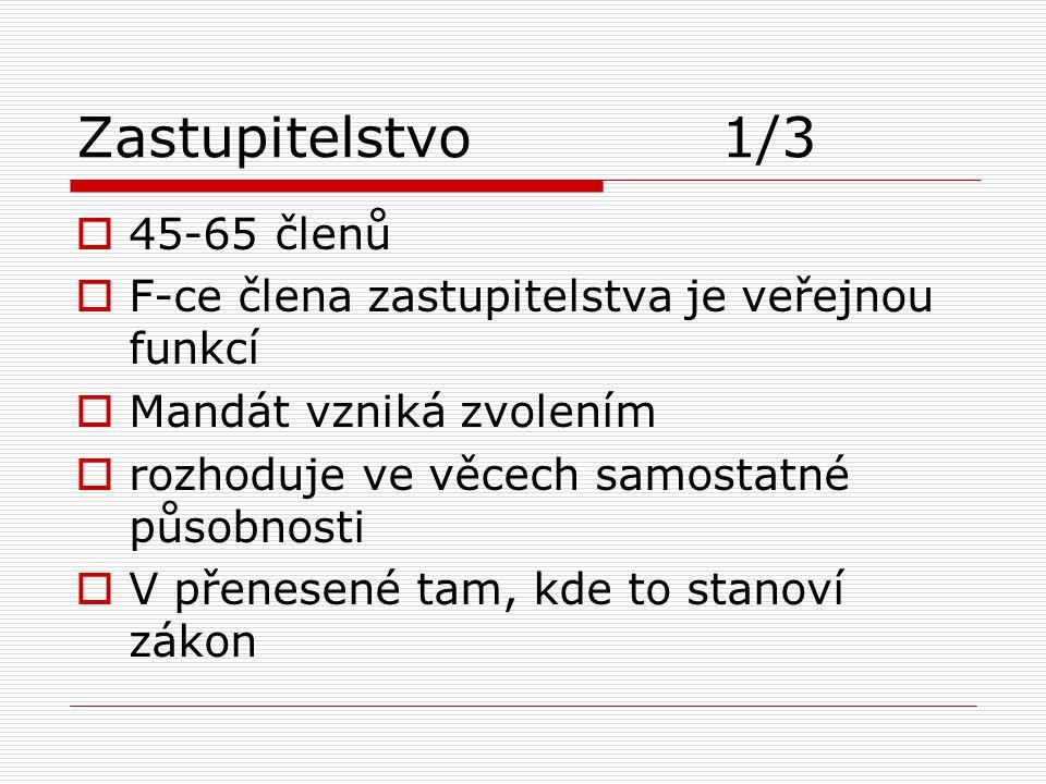 Zastupitelstvo 1/3 45-65 členů