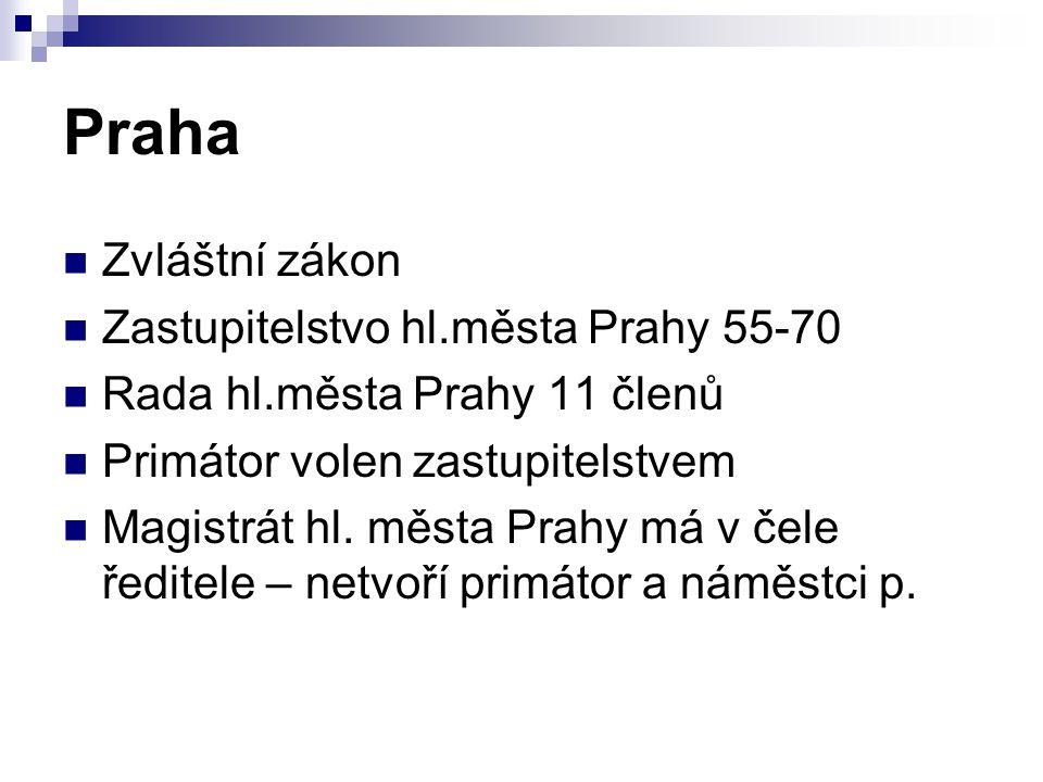 Praha Zvláštní zákon Zastupitelstvo hl.města Prahy 55-70