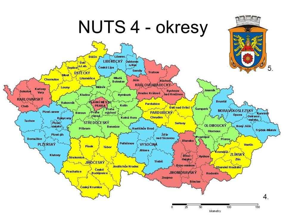 NUTS 4 - okresy 5. 4.