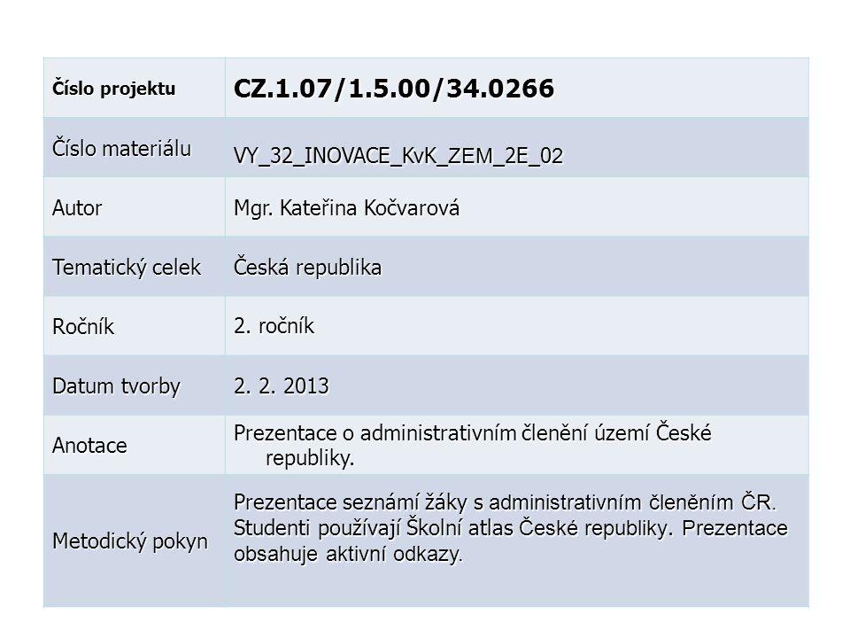CZ.1.07/1.5.00/34.0266 Číslo materiálu VY_32_INOVACE_KvK_ZEM_2E_02