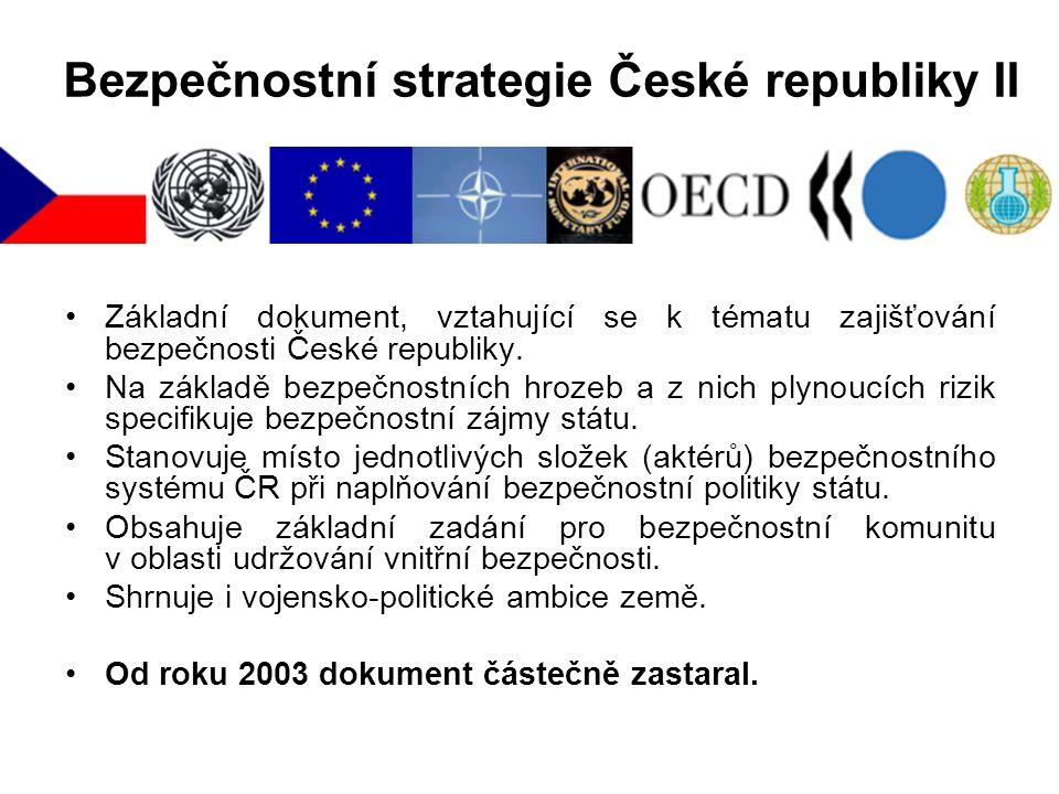 Bezpečnostní strategie České republiky II