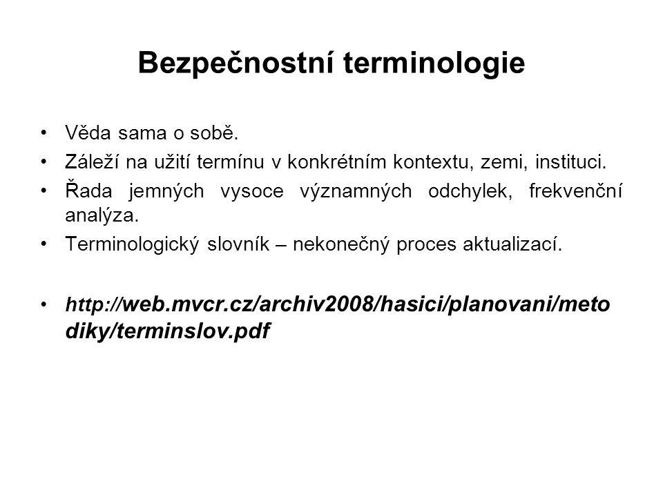 Bezpečnostní terminologie