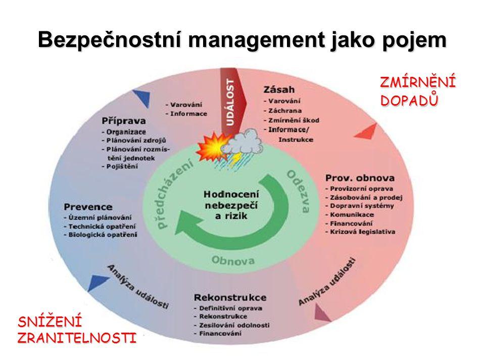 Bezpečnostní management jako pojem