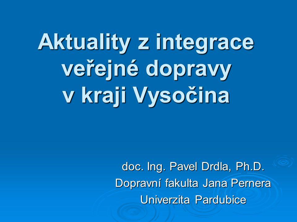 Aktuality z integrace veřejné dopravy v kraji Vysočina