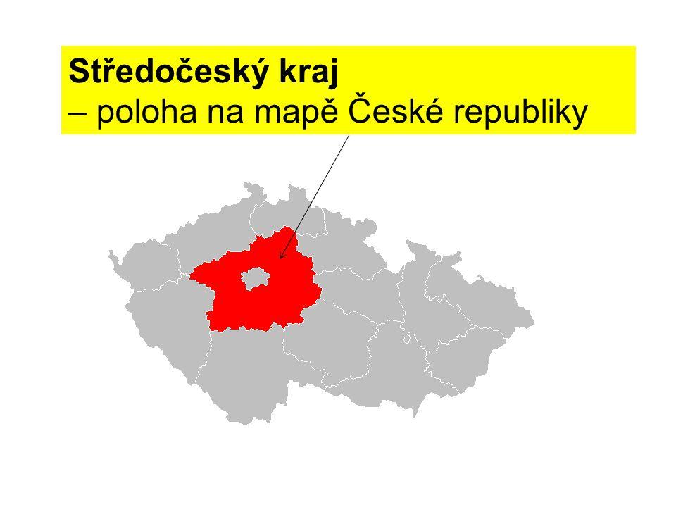 Středočeský kraj – poloha na mapě České republiky