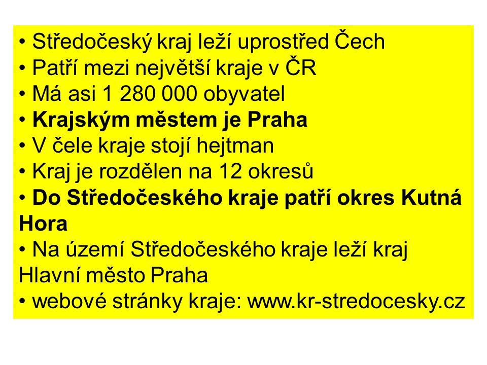 Středočeský kraj leží uprostřed Čech