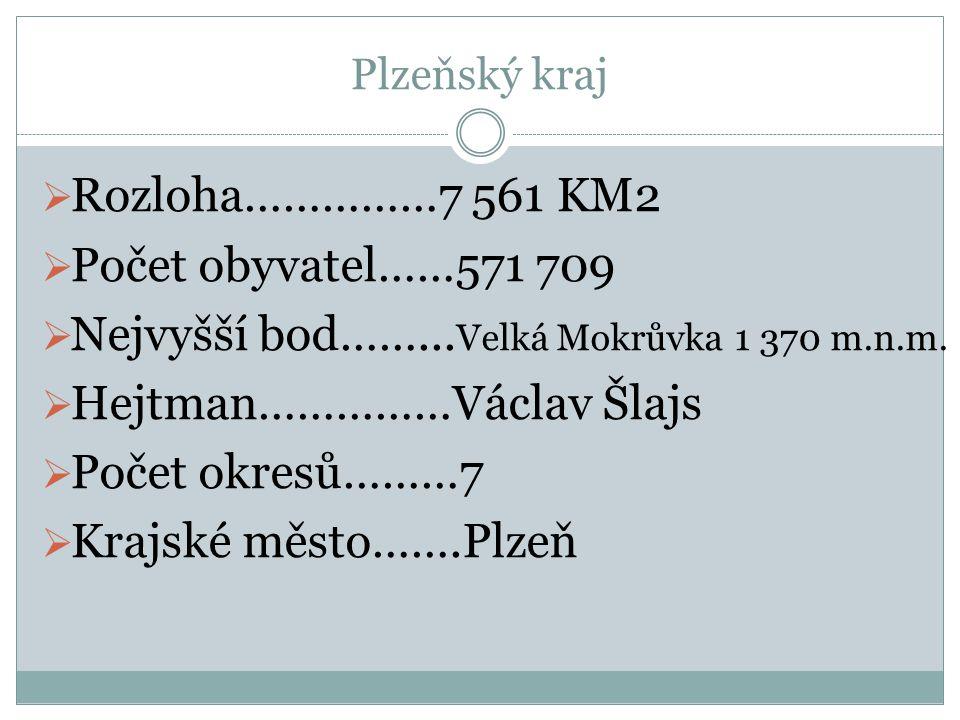 Nejvyšší bod……...Velká Mokrůvka 1 370 m.n.m. Hejtman……………Václav Šlajs