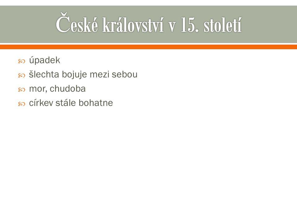 České království v 15. století