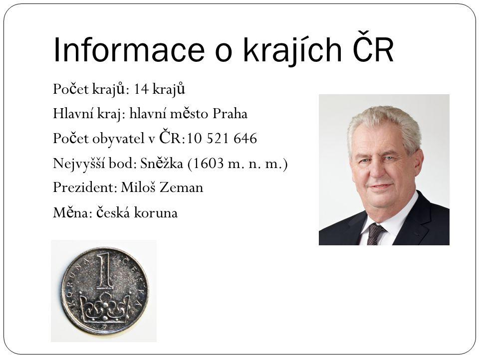 Informace o krajích ČR