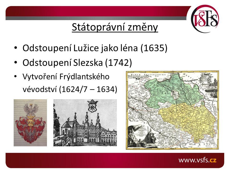 Státoprávní změny Odstoupení Lužice jako léna (1635)