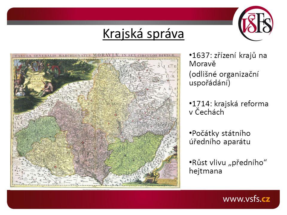 Krajská správa 1637: zřízení krajů na Moravě