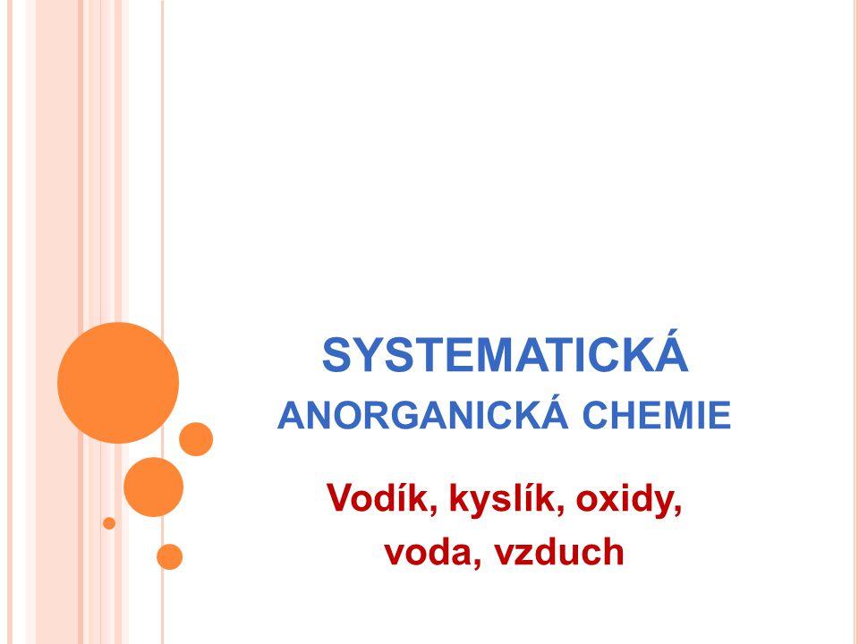 Systematická anorganická chemie