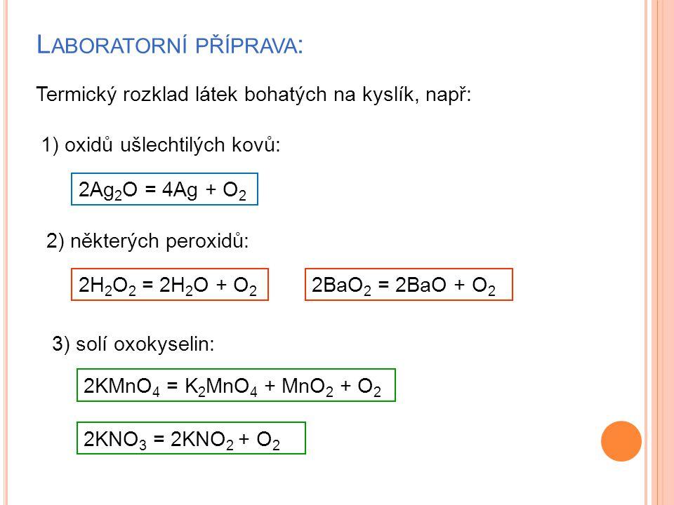 Laboratorní příprava: