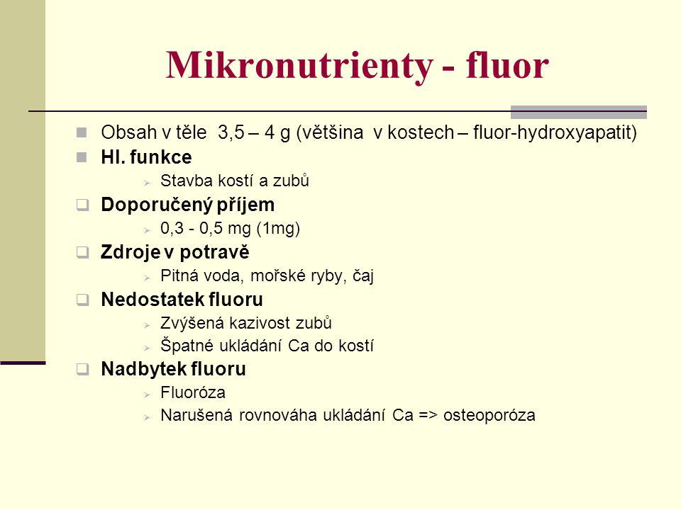 Mikronutrienty - fluor