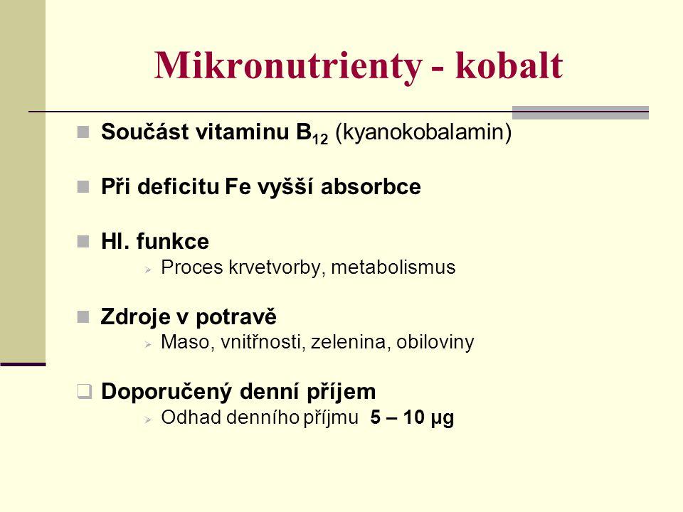 Mikronutrienty - kobalt