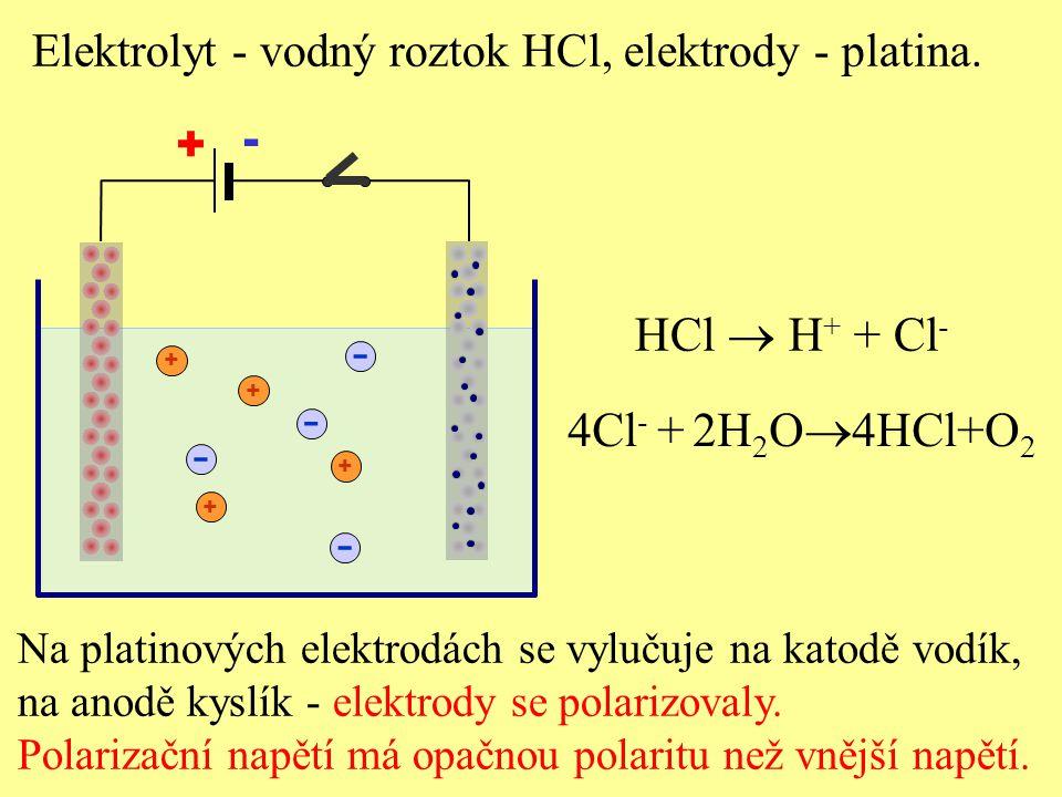 - - - - HCl  H+ + Cl- 4Cl- + 2H2O4HCl+O2