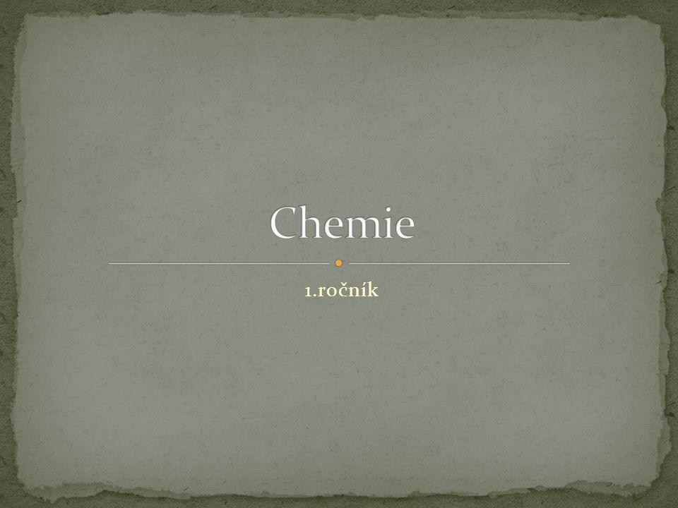 Chemie 1.ročník