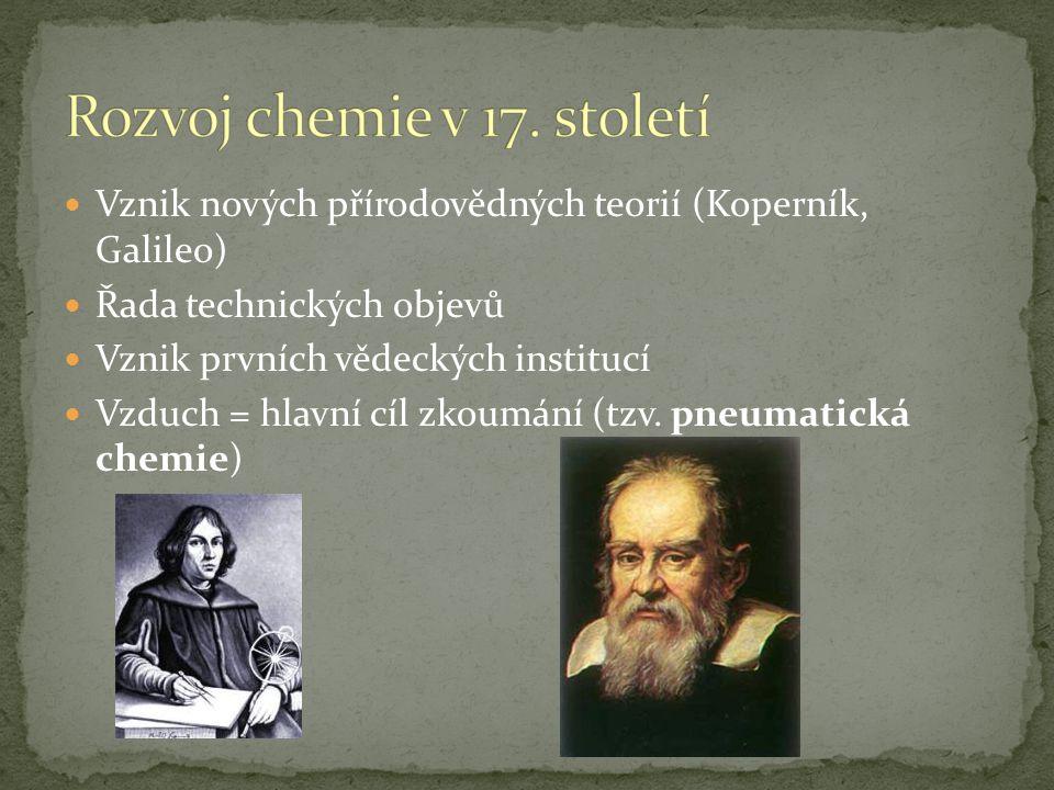 Rozvoj chemie v 17. století