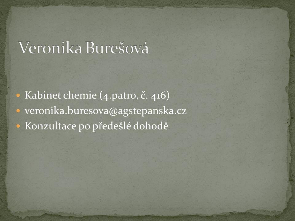 Veronika Burešová Kabinet chemie (4.patro, č. 416)