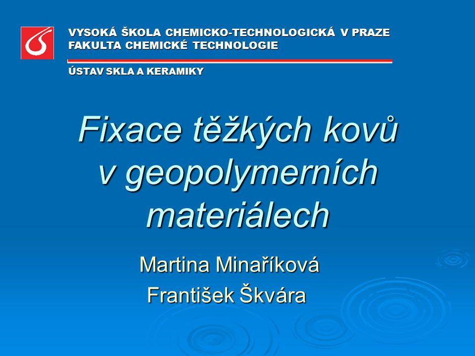 Fixace těžkých kovů v geopolymerních materiálech