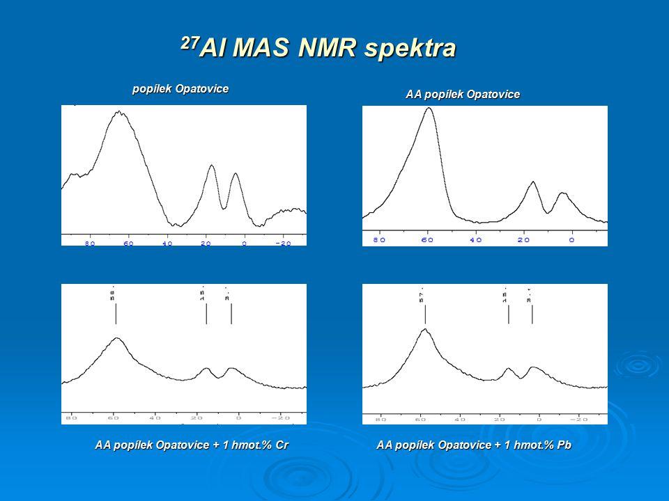 AA popílek Opatovice + 1 hmot.% Cr AA popílek Opatovice + 1 hmot.% Pb
