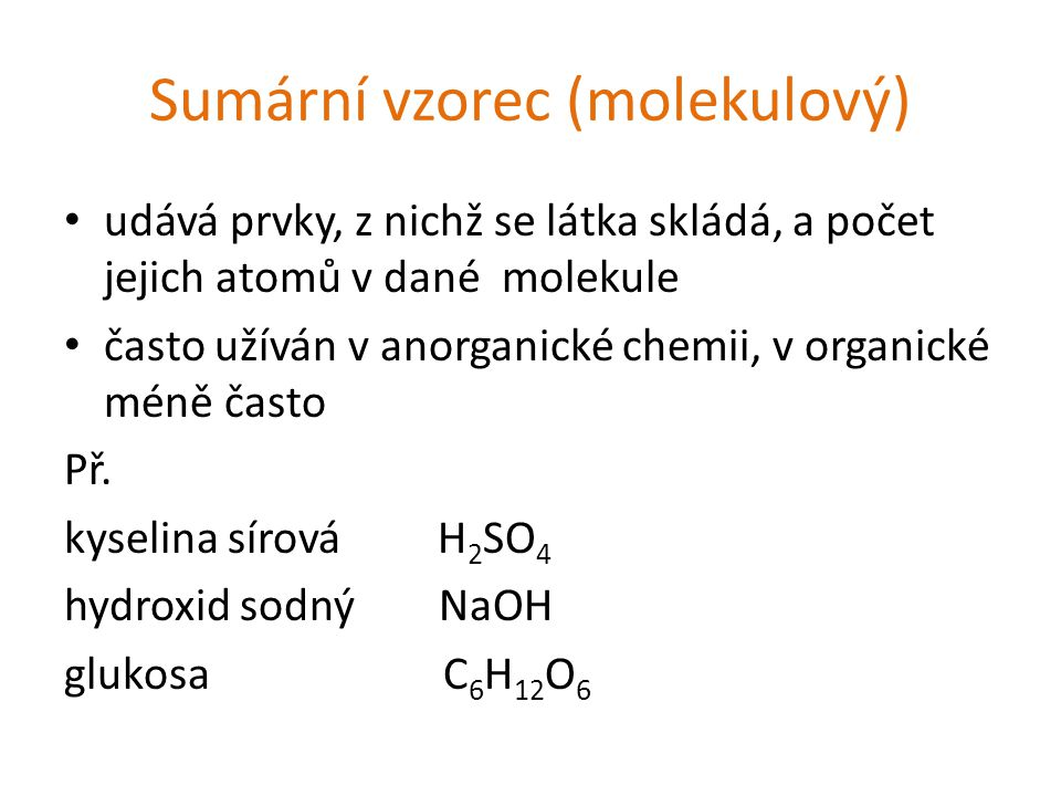 Sumární vzorec (molekulový)