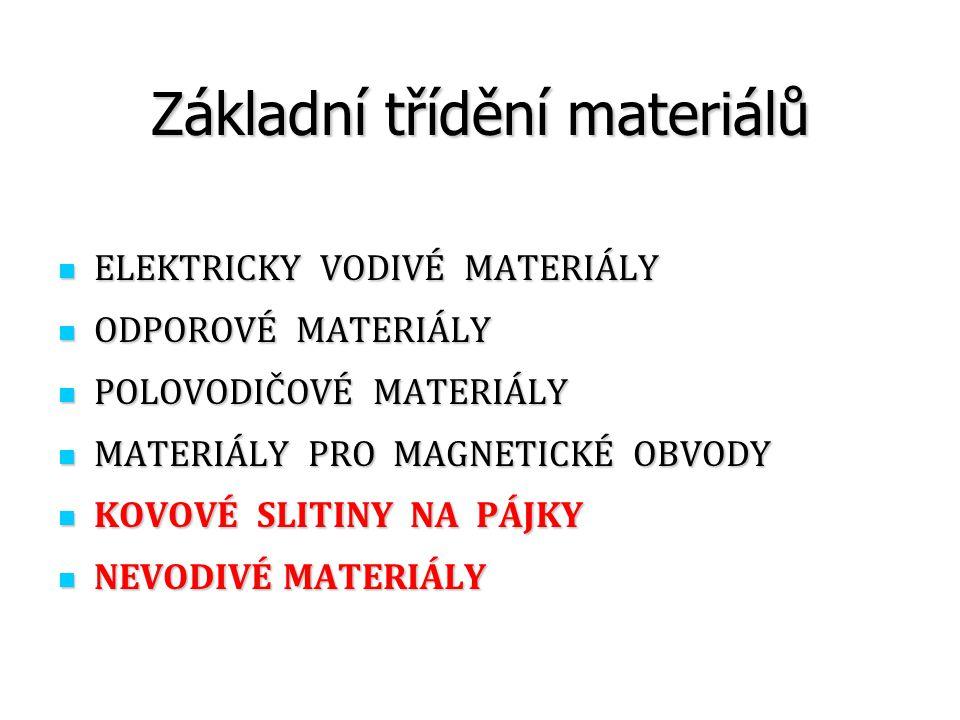 Základní třídění materiálů