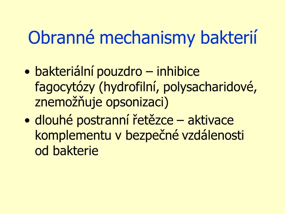 Obranné mechanismy bakterií