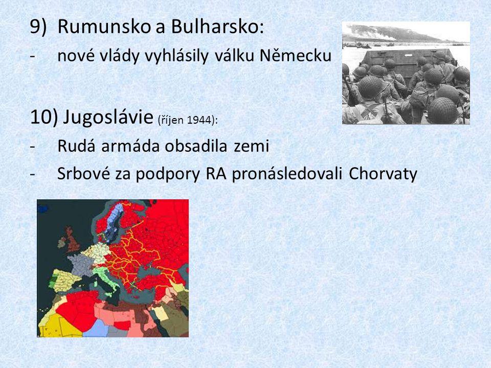 Rumunsko a Bulharsko: Jugoslávie (říjen 1944):