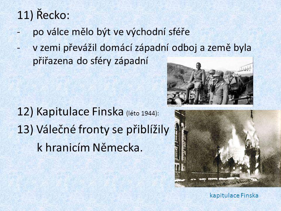 Kapitulace Finska (léto 1944): Válečné fronty se přiblížily