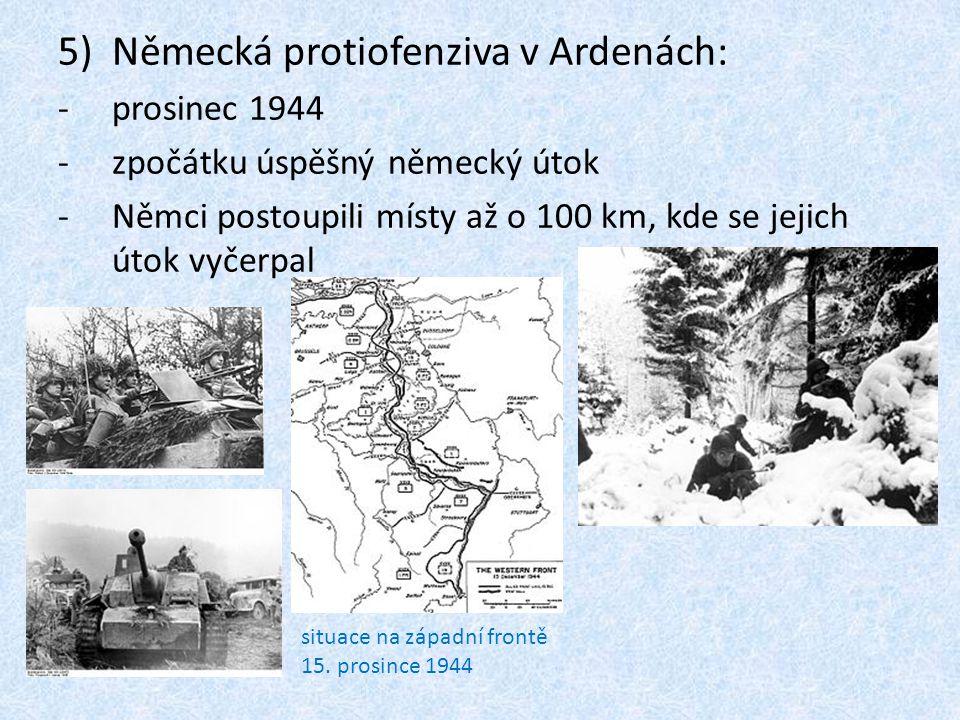 Německá protiofenziva v Ardenách:
