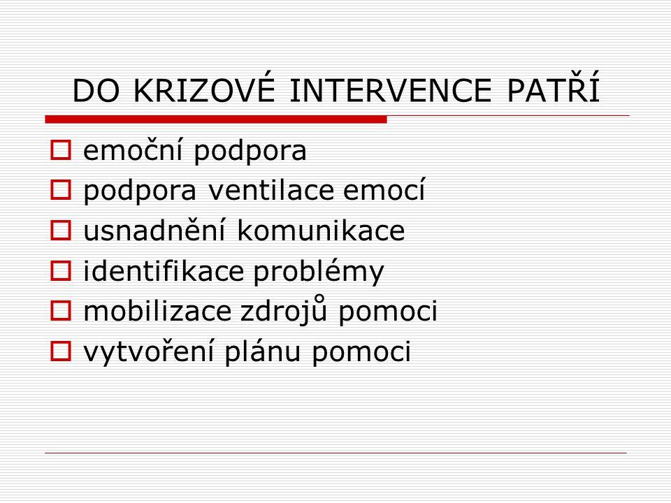 DO KRIZOVÉ INTERVENCE PATŘÍ