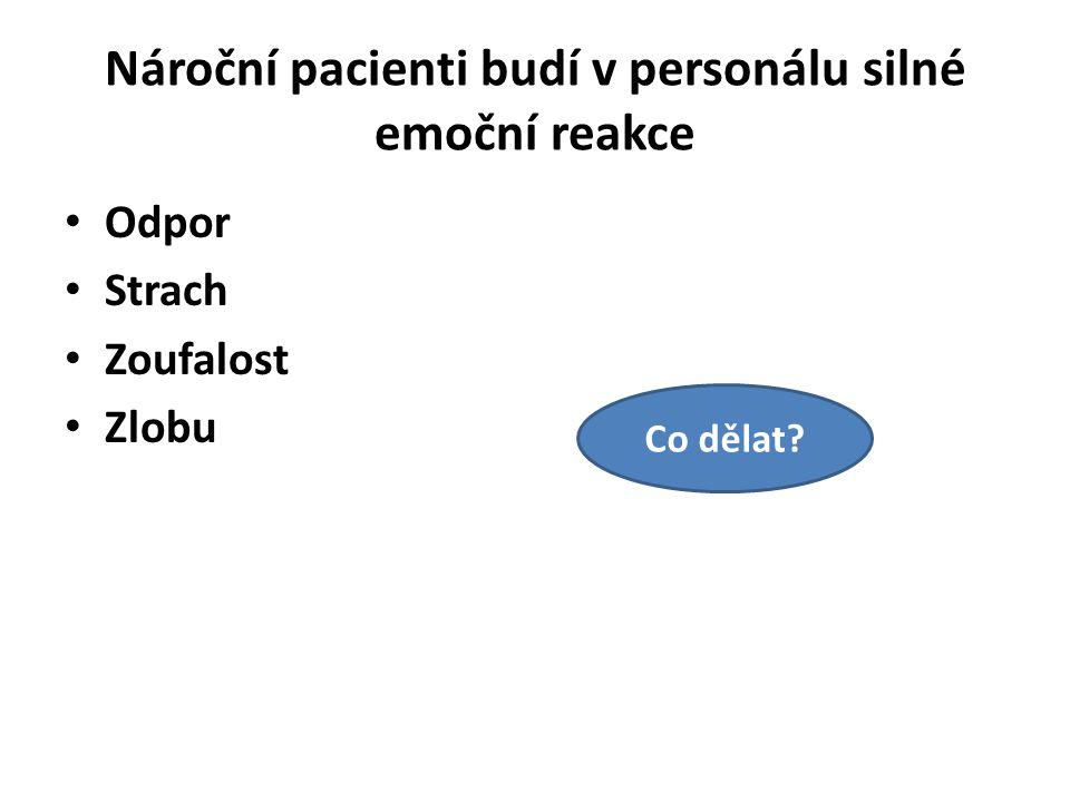 Nároční pacienti budí v personálu silné emoční reakce