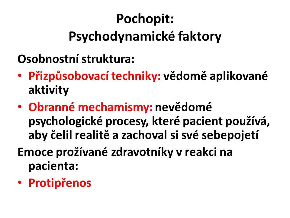 Pochopit: Psychodynamické faktory