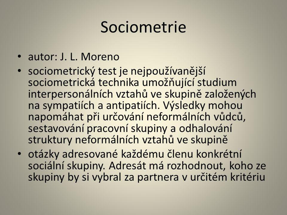 Sociometrie autor: J. L. Moreno