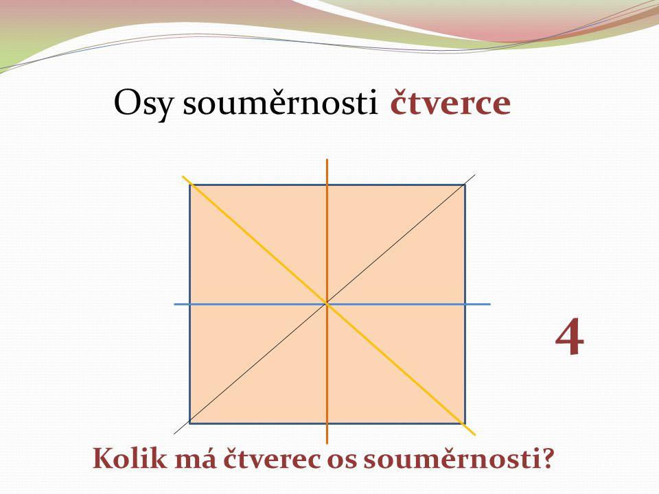 Osy souměrnosti čtverce